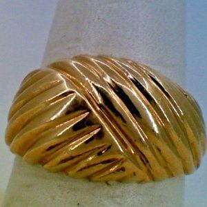 14K Yellow Gold Braided Ladys Fashion Ring 4.8 Gra
